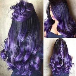 Лилава боя за коса