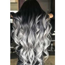 Сребристосива боя за коса