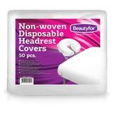 Покривало за защита на облегалките за еднократна употреба от нетъкан материал - Beautyfor Non-woven Disposable Headrest Covers, 50 броя