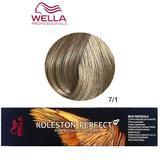 Перманентна крем боя - Wella Professionals Koleston Perfect ME+ Rich Naturals, нюанс 7/1 средно пепелно русо