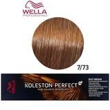 Перманентна крем боя - Wella Professionals Koleston Perfect ME+ Deep Browns, нюанс 7/73 средно русо златисто кафяво