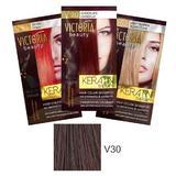 Тонизиращ шампоан с кератин Camco Victoria Beauty Keratin Therapy, нюанс V30 Coffee, 40мл