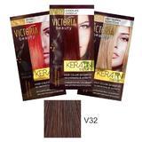 Тонизиращ шампоан с кератин Camco Victoria Beauty Keratin Therapy, нюанс V32 Velvet Brown, 40мл