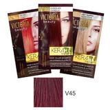 Тонизиращ шампоан с кератин Camco Victoria Beauty Keratin Therapy, нюанс V45 Dark Cherry, 40мл