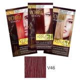 Тонизиращ шампоан с кератин Camco Victoria Beauty Keratin Therapy, нюанс V46 Cherry, 40мл