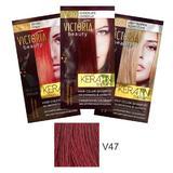 Тонизиращ шампоан с кератин Camco Victoria Beauty Keratin Therapy, нюанс V47 Intensive Red, 40мл