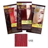 Тонизиращ шампоан с кератин Camco Victoria Beauty Keratin Therapy, нюанс V48 Wine Red, 40мл