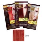 Тонизиращ шампоан с кератин Camco Victoria Beauty Keratin Therapy, нюанс V51 Titian, 40мл