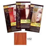 Тонизиращ шампоан с кератин Camco Victoria Beauty Keratin Therapy, нюанс V52 Copper, 40мл