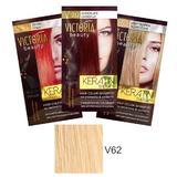Тонизиращ шампоан с кератин Camco Victoria Beauty Keratin Therapy, нюанс V62 Light Blonde, 40мл