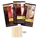 Тонизиращ шампоан с кератин Camco Victoria Beauty Keratin Therapy, нюанс V63 Platinum Blonde, 40мл
