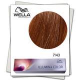 Перманентна боя - Wella Professionals Illumina Color нюанс 7/43 средно червено златисто русо