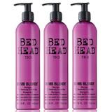 Пакет 3 x Шампоан за третирана коса - TIGI Bed Head Dumb Blonde Shampoo 400 мл