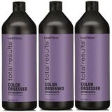 Пакет 3 x Шампоан за боядисана коса - Matrix Total Results Color Obsessed Shampoo 1000 мл
