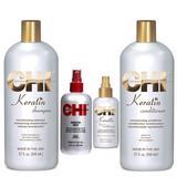 Пакет CHI Farouk Keratin 3 - шампоан, балсам, серум и лечение