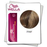 Боя без амоняк - Wella Professionals Color Touch Plus нюанс 77/07 средно русо интензивно естествено кестеняво