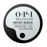 Полупостоянен гел за нокти за дизайн - OPI GelColor Artist Series The Time Is White, 6 гр