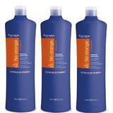 Пакет 3 x шампоан против оранжеви ттонове - Fanola No Orange шампоан, 1000 мл