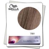 Перманентна боя - Wella Professionals Illumina Color нюанс 7/81 средно русо пепелно синьо