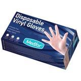 Бели винилови ръкавици Размер M - Beautyfor White Vinyl Gloves, Powder Free, M, 100 броя