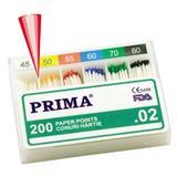 Хартиени стоматологични щифтове Prima асорти 45-80, 200 броя