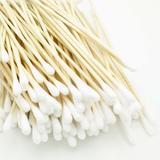 Дървени бамбукови клечки Prima, хигиенични, медицински стандарт, 15см, 50 броя